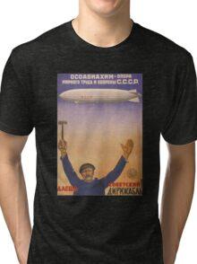 Soviet Russia Zeppelin Poster Tri-blend T-Shirt