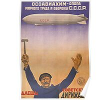 Soviet Russia Zeppelin Poster Poster