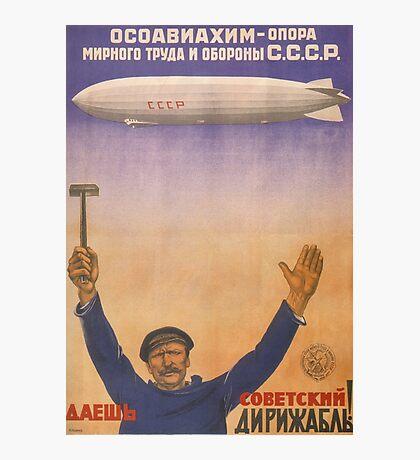 Soviet Russia Zeppelin Poster Photographic Print
