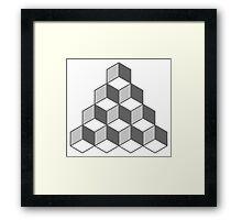 Cube Illusion Framed Print