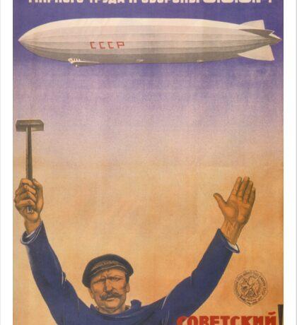 Soviet Russia Zeppelin Poster Sticker