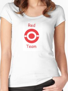 pokemon team red Women's Fitted Scoop T-Shirt