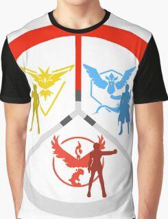 Pokemon Go Teams Graphic T-Shirt