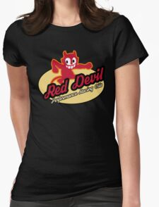 Red Devil Hot Rod logo Womens Fitted T-Shirt