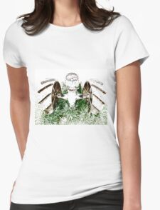 Tractor Tracks Womens Fitted T-Shirt