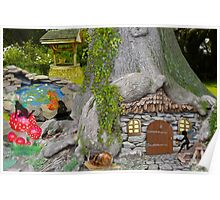 Fairy Garden at Night Poster