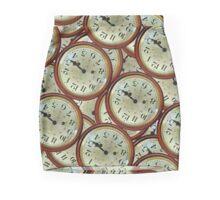 Vintage clocks pattern Mini Skirt