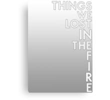 Bastille - Things We Lost In The Fire #2 Canvas Print