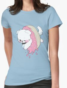 Donut Doggy Womens Fitted T-Shirt