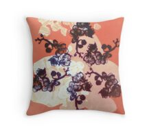 Warm Orchid Fractal - Floral Geometry Study  Throw Pillow