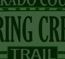 Spring Creek Colorado offroad Jeep trail Sticker