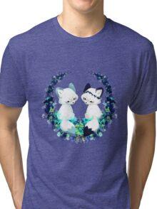 Floral Foxes Tri-blend T-Shirt