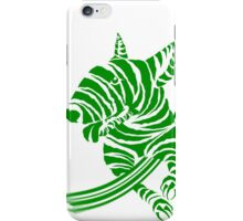 Zebra EBT Green and White  iPhone Case/Skin