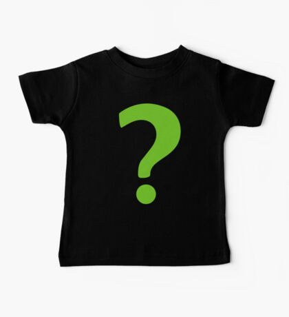 Enigma - green question mark Baby Tee
