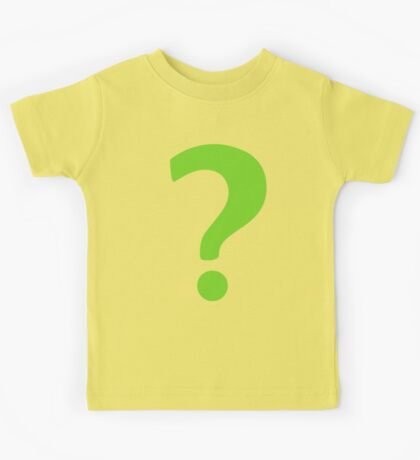 Enigma - green question mark Kids Tee