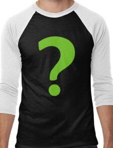 Enigma - green question mark Men's Baseball ¾ T-Shirt
