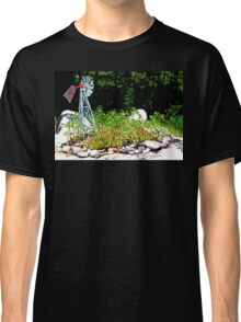 Hart Well Drilling Anniversary Windmill in Rock Garden Classic T-Shirt