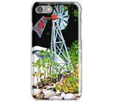 Hart Well Drilling Anniversary Windmill in Rock Garden iPhone Case/Skin