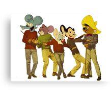 Dancing Cartoon Mice Canvas Print