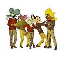 Dancing Cartoon Mice Photographic Print