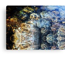 Ripples and River Rocks Photography Canvas Print