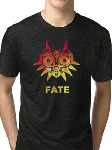 A Fiery Fate - Zelda Majora's Mask Tri-blend T-Shirt