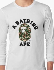 A BATHING APE WOODLAND CAMO Long Sleeve T-Shirt