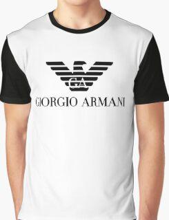 black logo giorgio armani Graphic T-Shirt