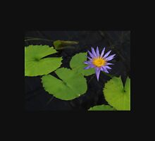 Purple Lily and Lilypads in a Pond Unisex T-Shirt