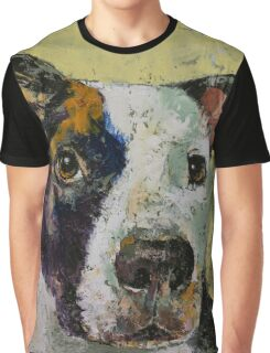 Pit Bull Portrait Graphic T-Shirt