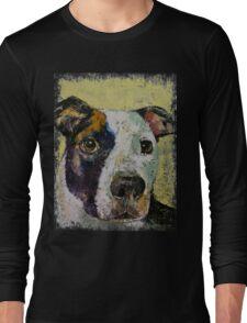 Pit Bull Portrait Long Sleeve T-Shirt