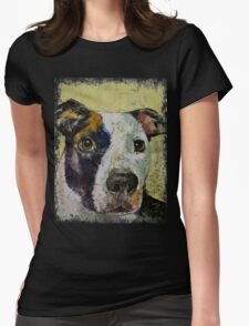 Pit Bull Portrait Womens Fitted T-Shirt