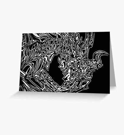 Alduin Dragon - The Elder Scrolls Skyrim Greeting Card