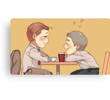 Coffee date Canvas Print