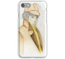 Sherlock Holmes Caricature  iPhone Case/Skin
