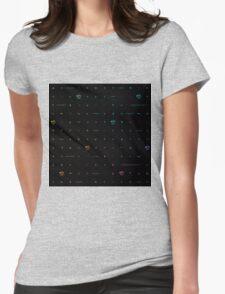 buffy big bads: rainbow on black Womens Fitted T-Shirt