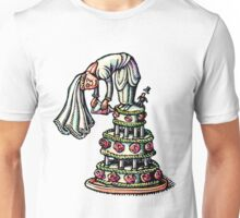 Bride Decorates Her Own Wedding Cake Unisex T-Shirt
