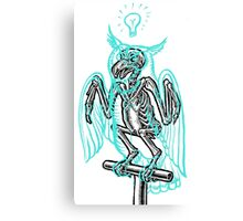 Skeleton of an Owl, with ghostly overlay Canvas Print