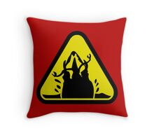 Beware of the Graboid! Throw Pillow