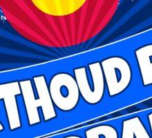 Berthoud Pass Colorado mountain burst Sticker