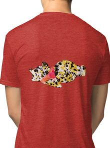 bear inspired splatter paint Tri-blend T-Shirt