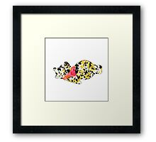 bear inspired splatter paint Framed Print