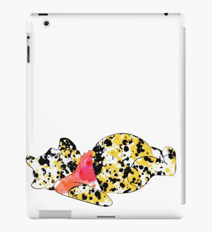 bear inspired splatter paint iPad Case/Skin