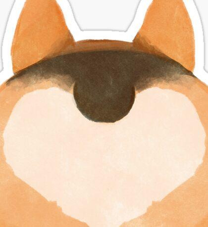 Corgi Butt Love - Tri Color Sticker