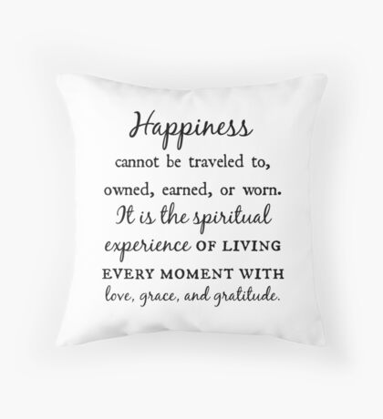Love, Grace, and Gratitude Throw Pillow