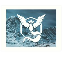 Pokemon Go: Team Mystic (White) Art Print
