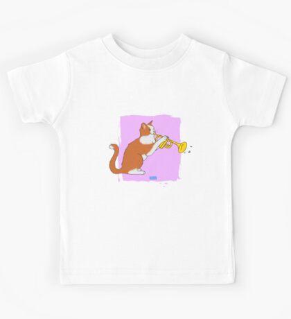 Trumpet Cat Kids Tee