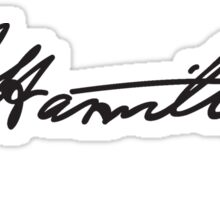 Hamilton Signiture Sticker