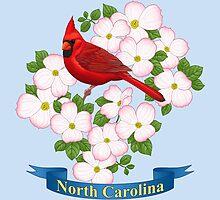 North Carolina State Bird and Flower by csforest