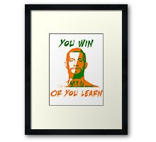 Conor McGregor UFC You Win or You Learn Framed Print